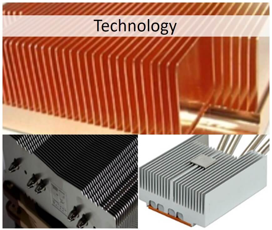 Types Of Heat Sinks Used With Heat Pipes Celsia