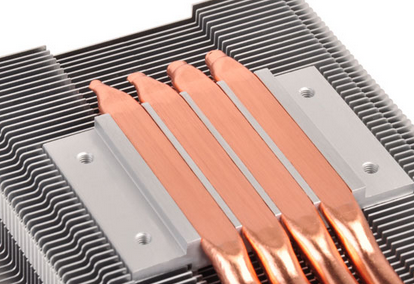 Heat sink with flat heat pipes