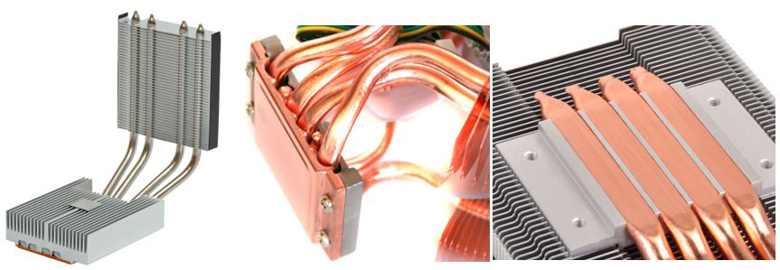 Heat Pipe Mounting Options to Heat Sink