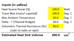 How to Use the Heat Sink Sizing Calculator
