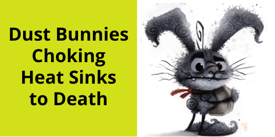 Clean Heat Sink of Dust Bunnies