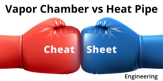 Vapor Chamber vs Heat Pipe Cheat Sheet